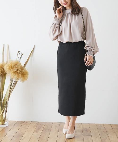[Futierland&SASA] スーパーストレッチニットタイトスカート