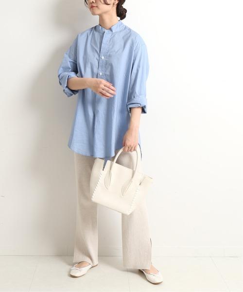 [IENA] 【GD by JAMES MORTIMER】バンドカラーシャツ【手洗い可】◆