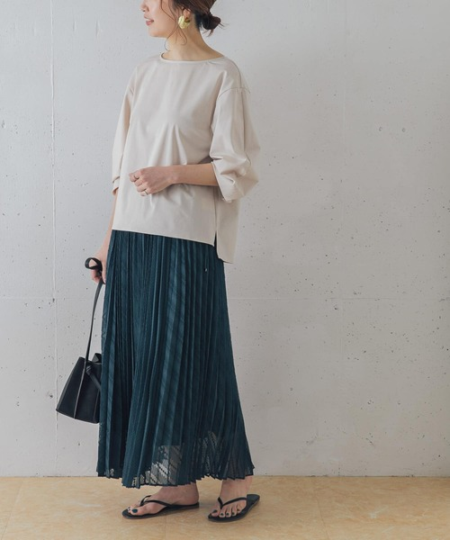 [URBAN RESEARCH ROSSO WOMEN] カットジャガードプリーツスカート