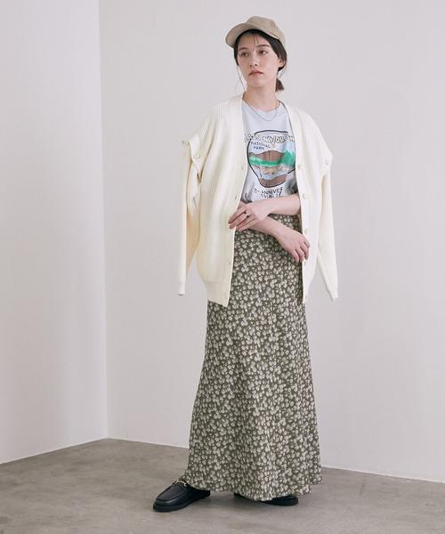 [ROPE'] ビンテージライクフラワーマーメイドスカート16