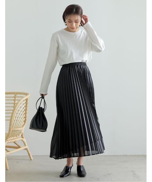 [Re:EDIT] [低身長サイズ有]シアーシフォンラッププリーツスカート