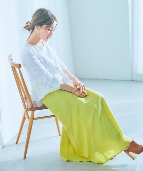 [kobelettuce] 【WEARISTA田中亜希子さん×KOBE LETTUCEコラボ】ハイウエストロングフレアスカート