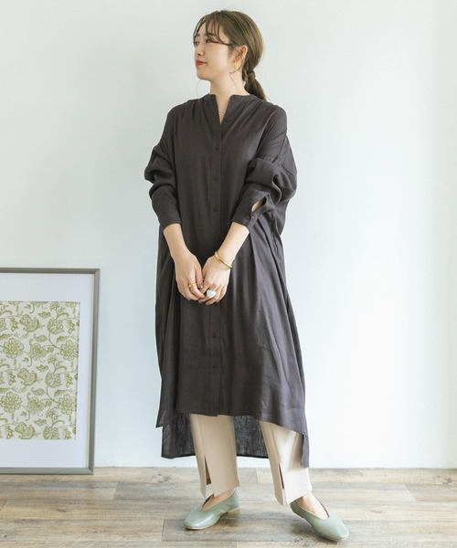 [ITEMS URBAN RESEARCH] ストレッチリネンシャツワンピース