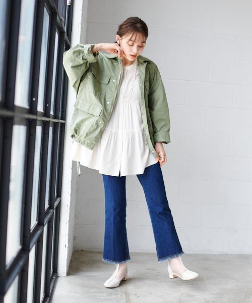 [Discoat] <オソロ>ミリタリーシャツジャケット