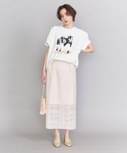 BY レースIラインスカート