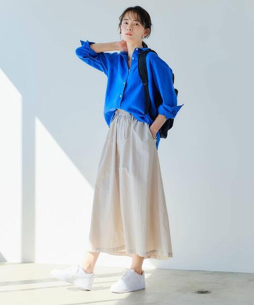 [green label relaxing] SC ナイロン ボリューム ギャザー スカート
