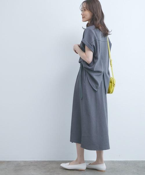 [ViS] 【UVケア&マシンウォッシャブル】【セットアップ対応】ジャカードクルーネックTシャツ