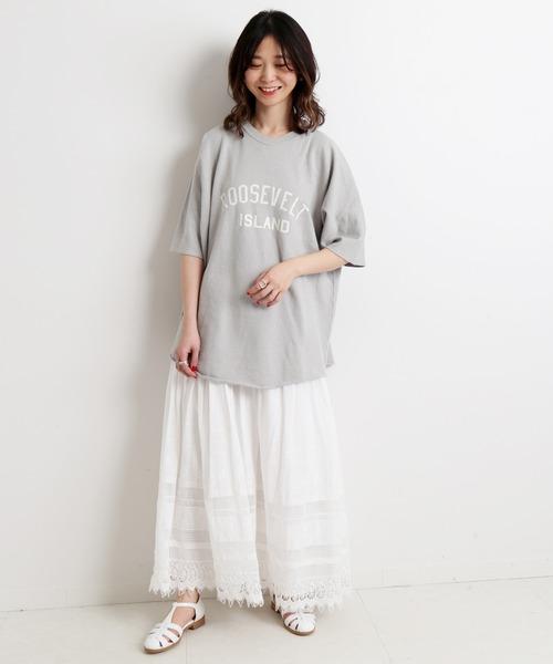 [IENA] 刺繍レーススカート【ウエストゴム】◆