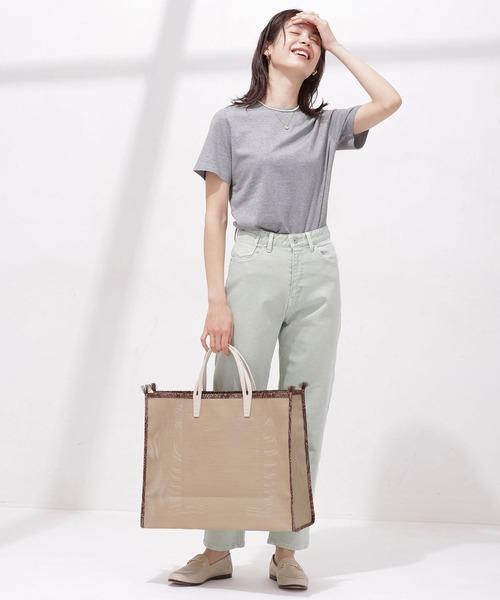 [nano・universe] Anti Soaked 汗染み防止 クルーTシャツ 半袖