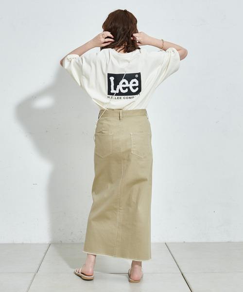 [Discoat] 【Lee/リー】コラボメンズオソロバックプリントTシャツ