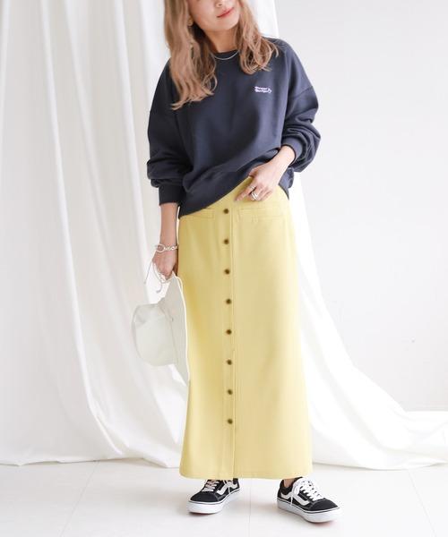 [IENA] SLOBE citron. カラーチェックアイラインスカート◆