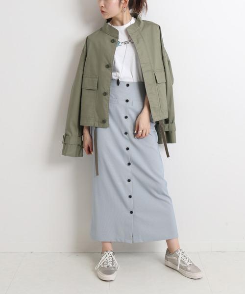 [IENA] SLOBE citron. カラーチェックアイラインスカート