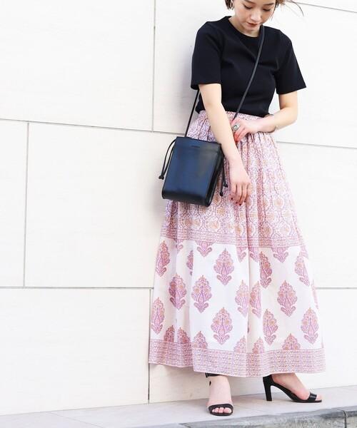 [FREAK'S STORE] ▽【WEB限定】インドパネルプリントフレアスカート