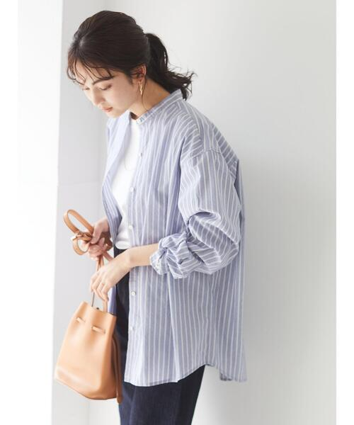 【CRAFT STANDARD BOUTIQUE】綿ブロードバンドカラーシャツ