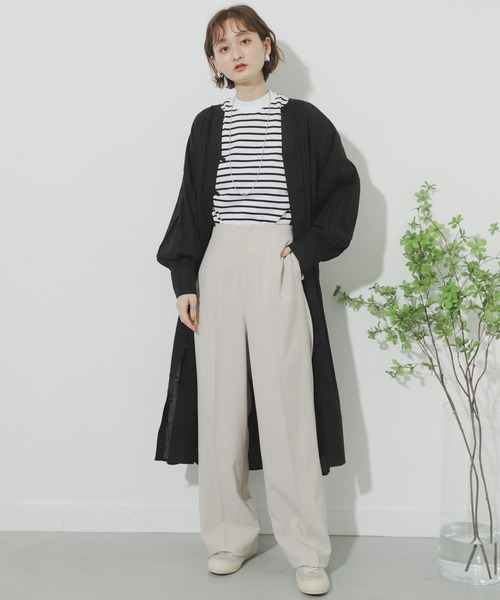 [SENSE OF PLACE by URBAN RESEARCH] リネンレーヨンスキッパーシャツワンピース