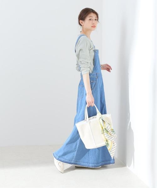 [IENA] LE DENIM フレアジャンパーデニムスカート【洗濯機使用可能】◆