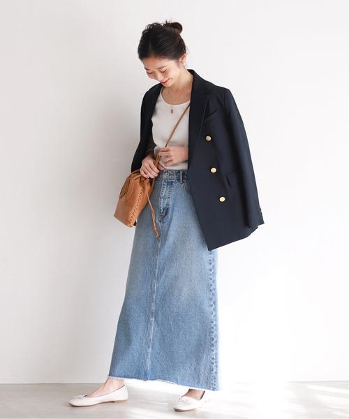 [IENA] LE DENIM×MARITAS マーメイドスカート【洗濯機使用可能】◆