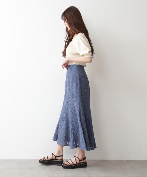 三角マチレースマーメイドスカート