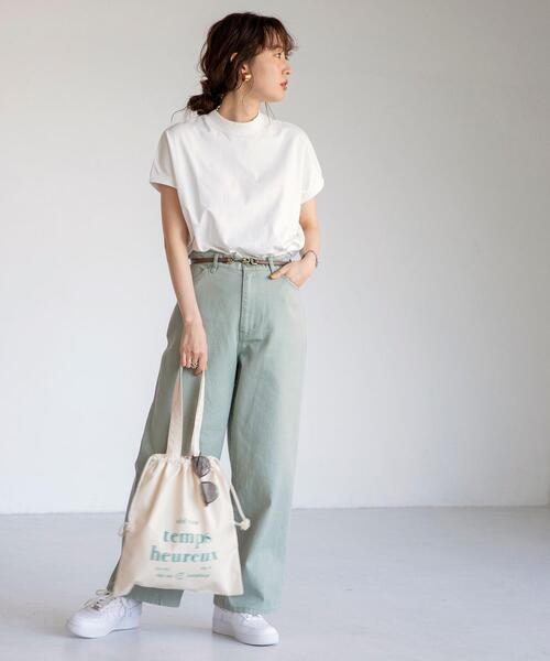 [coen] 【WEB限定カラー】リピT・機能付きハイネックTシャツ#