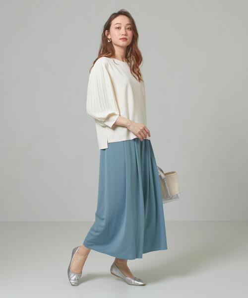 [green label relaxing] 【予約】<closet story>□イージー タック ワイドパンツ -手洗い可能-