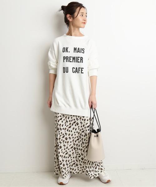 [IENA] ツートーンアニマルドットマーメイドスカート【手洗い可能】◆