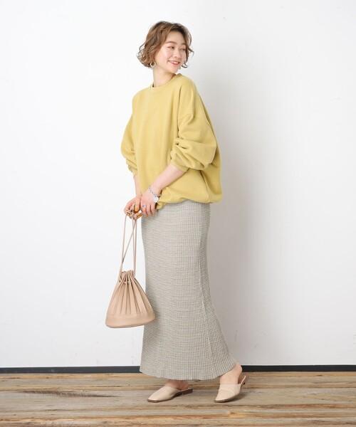 [FREAK'S STORE] ▽【WEB限定】タックリブボーダーフレアスカート