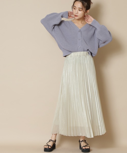 【S Size Line】シャイニープリーツスカート
