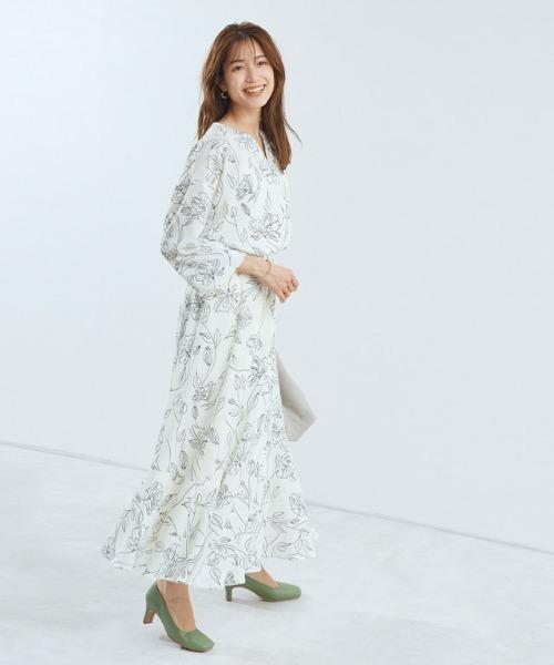 選べる花柄マーメイドスカート