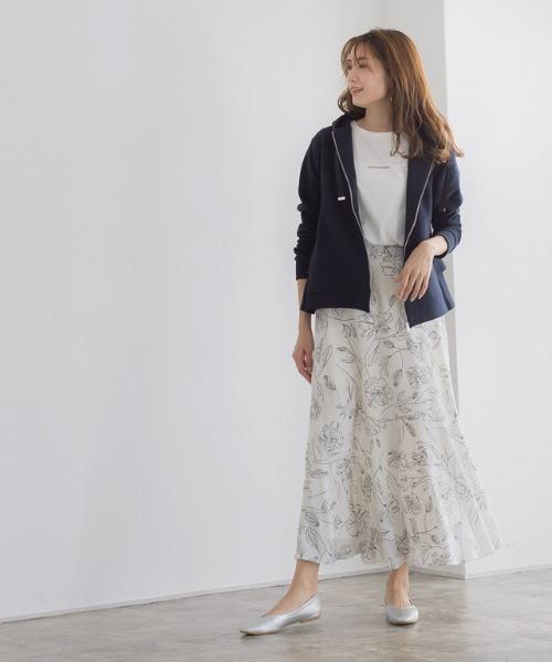 [Pierrot] 選べる花柄マーメイドスカート