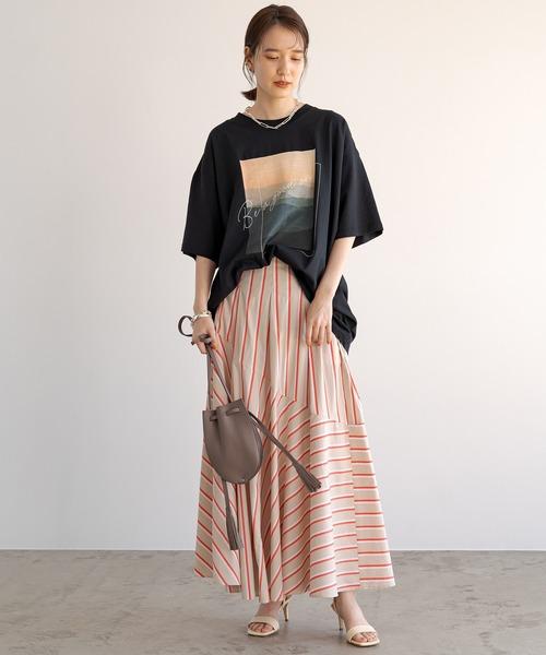 [Loungedress] ストライプフレアスカート6