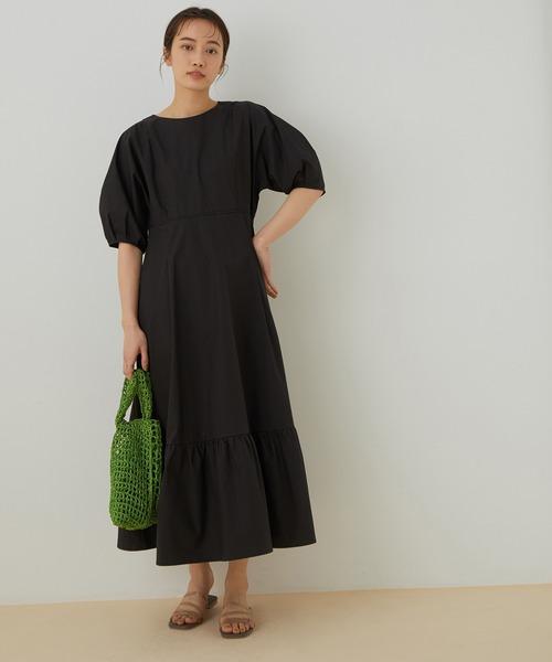 【WEB限定】ボリュームスリーブドレス