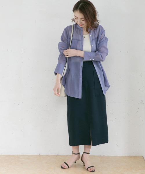 カルゼポケットタイトスカート