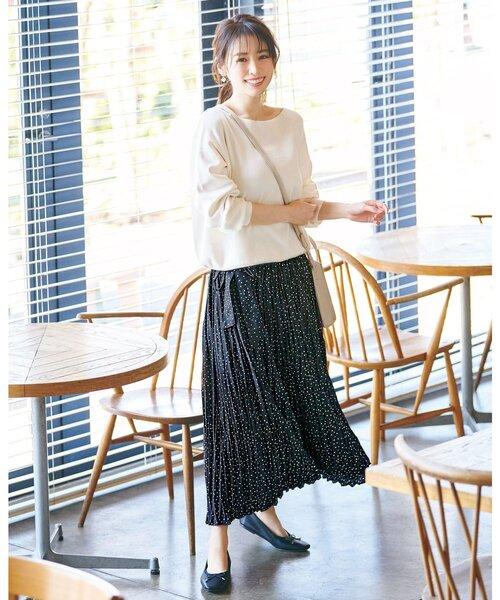 [index] 【WEB限定サイズ】マットサテンワッシャーラップロングスカート