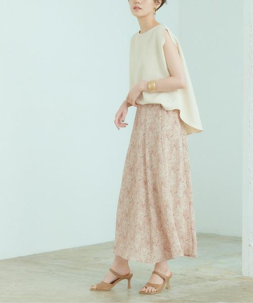 [titivate] タイダイ柄ソフトマーメイドスカート