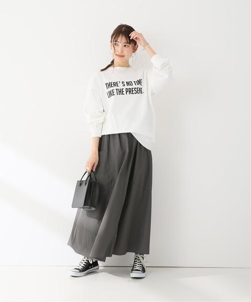 J-コットンナイロンフレアスカート