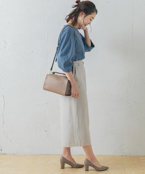 ベルト付きポケットタイトスカート