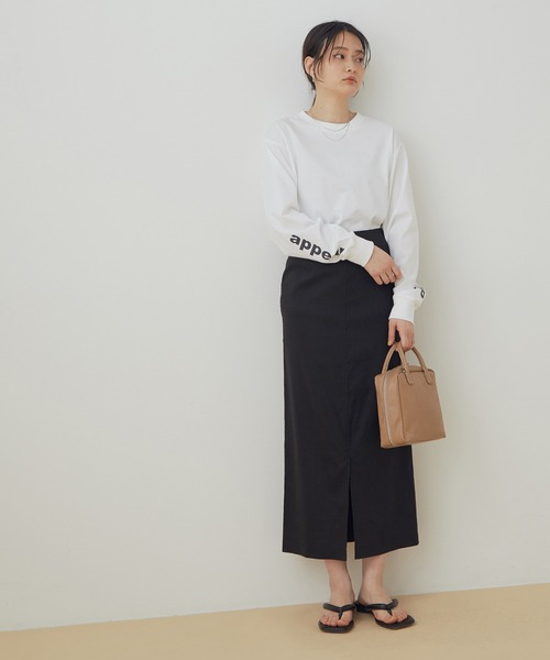 リネンMIXタイトスカート
