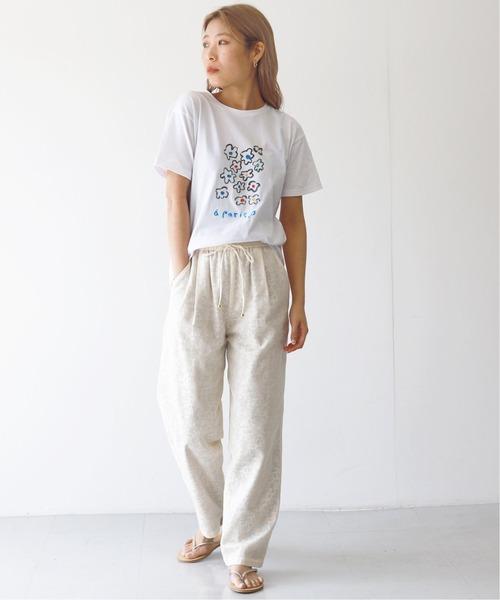 [IENA] SLOBE×opnner FLOWER Tシャツ◆