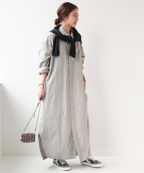 [JOURNAL STANDARD] 《WEB限定》【ARMEN/アーメン】UTILITY R/C LONG ONEPIECE SMU:別注ワンピ―ス◆