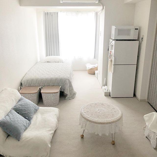 ワンルームの間取りを有効活用した家具配置