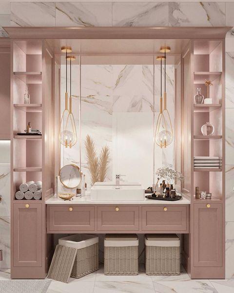 ピンク洗面所