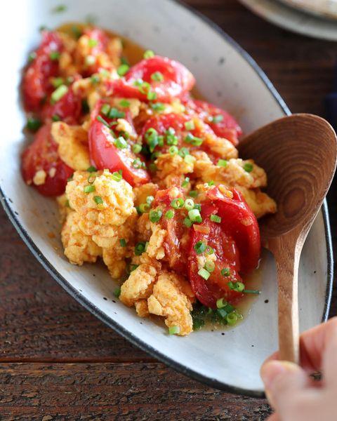 トマトとふんわり卵の中華炒め