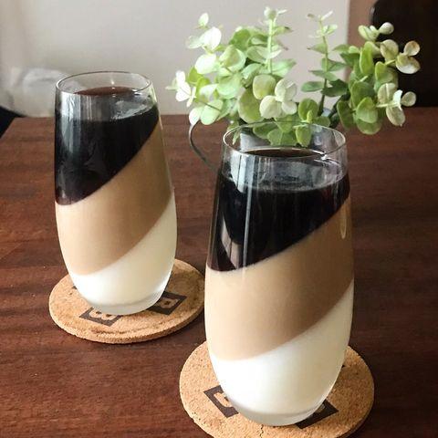 材料4つ♪三層のコーヒー牛乳プリンレシピ