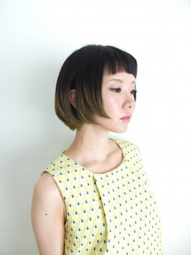 大人女子向けの短め前髪×ボブ10