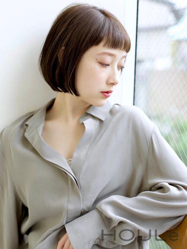 大人女子向けの短め前髪×ボブ6