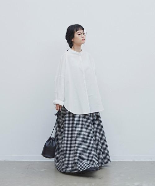 [YARD PLUS/AUNT MARIE'S] ギンガムチェックボリュームスカート