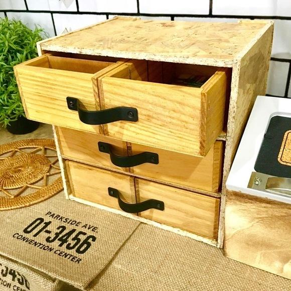 収納引き出しもDIYできるセリアの木製ケース