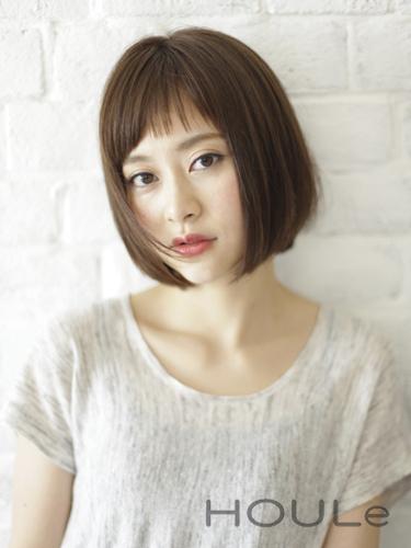 大人女子向けの短め前髪×ボブ7