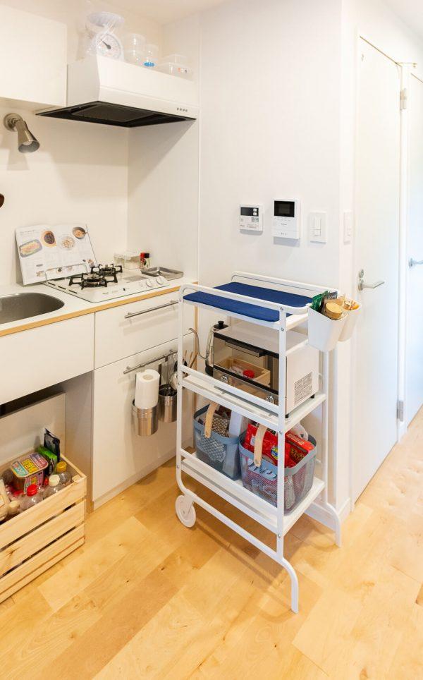 IKEAのワゴンならスッキリ!おしゃれな家電収納