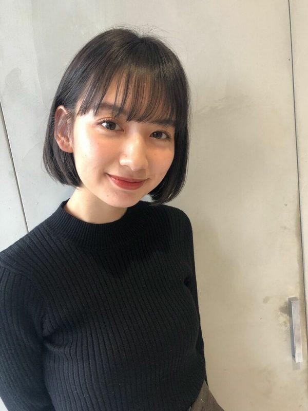 黒髪×シースルーバング4